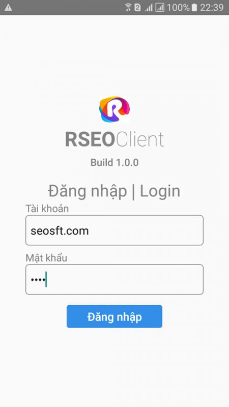 Công cụ phần mềm tăng trafficho website RSEO bản androi