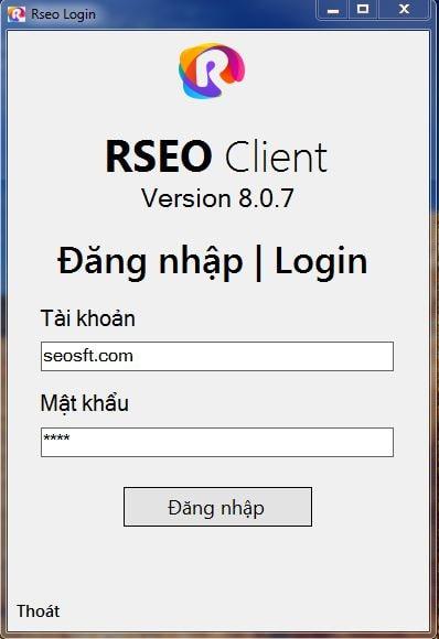 Công cụ phần mềm tăng trafficho website RSEO bản desktop
