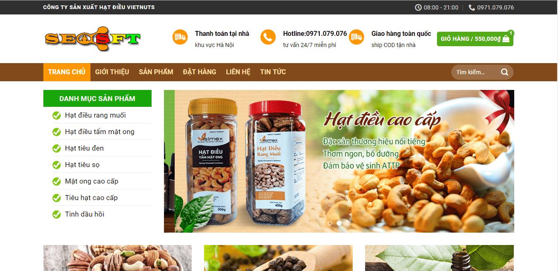 header giao diện website bán hàng