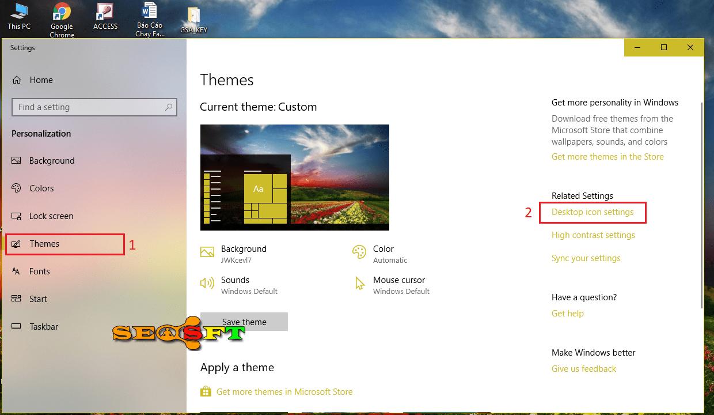 Cách đưa biểu tượng icon Control Panel ra màng hình Desktop