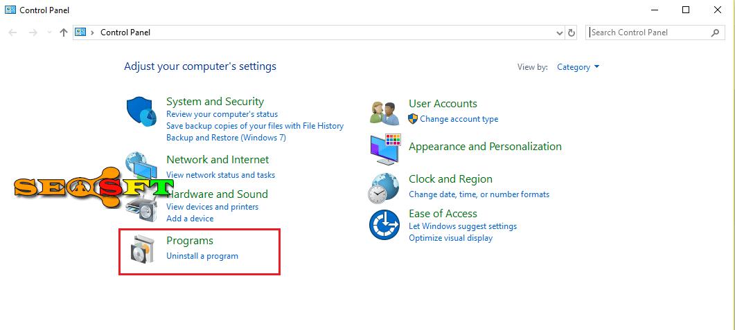 Cách gỡ cài đặt ứng dụng trong win 10,8,7