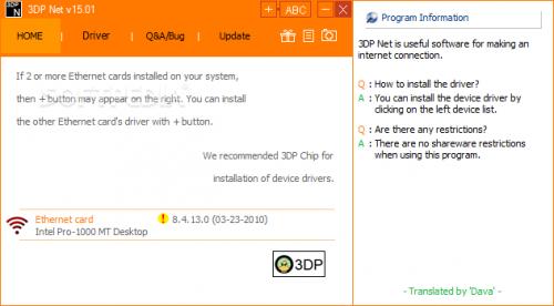 cách cài đặt driver wifi laptop bằng 3DP NET