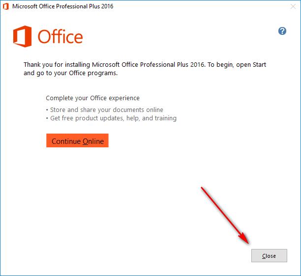 cài đặt phần mềm Microsoft Office 2016