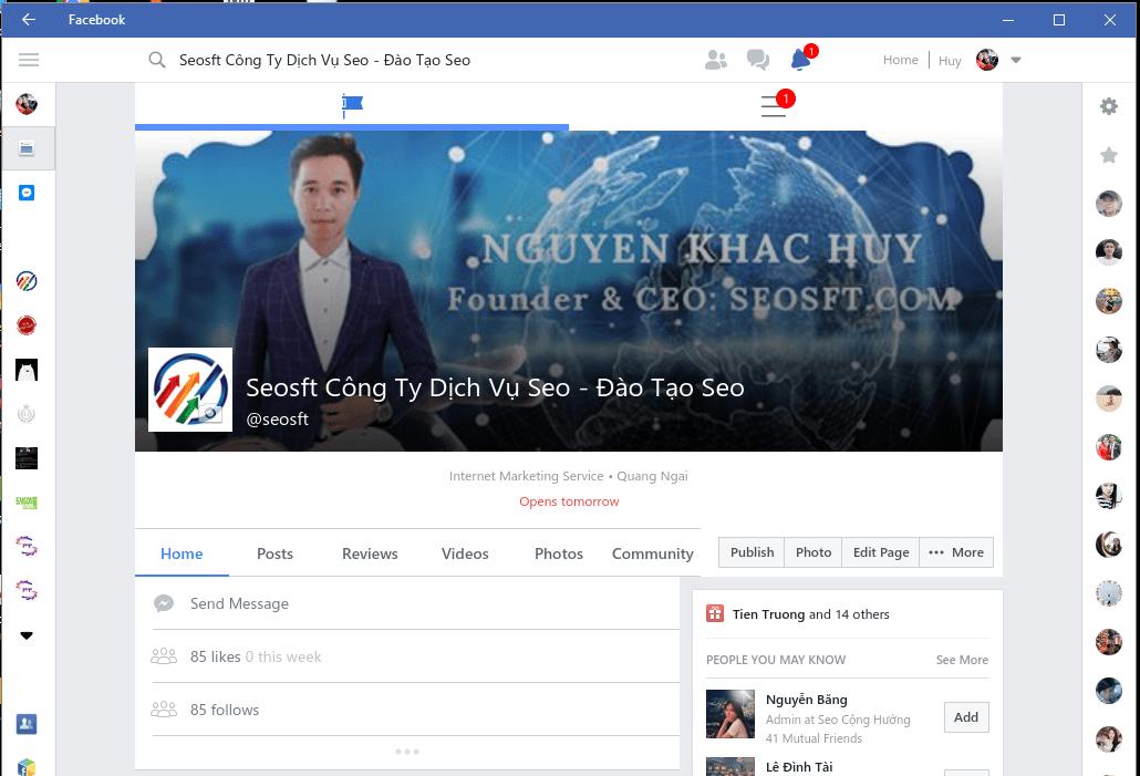 Tải facebook về máy tính